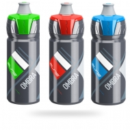 Green, red and blue lid water bottles